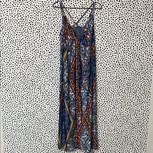 Loft Beach Bohemian Printed Maxi Dress